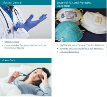米国の疾病対策センター(CDC)のホームページには、新型コロナウイルスに関する情報が数多く掲載されている