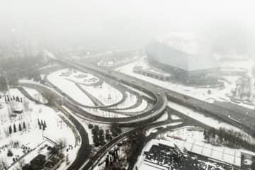 遼寧省瀋陽市で強い降雪
