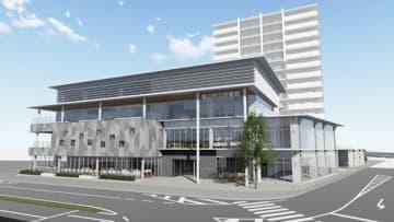 【複合ビルと高層マンションのイメージ図(亀山市提供)】