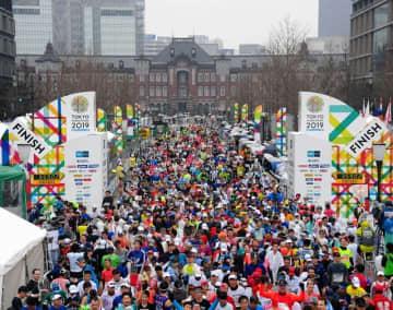 昨年の東京マラソンの様子