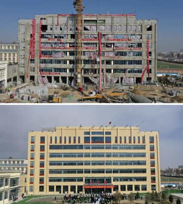 スピード工事 わずか2週間で病棟完成 寧夏回族自治区