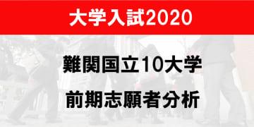 難関国立10大学の前期日程志願状況2020