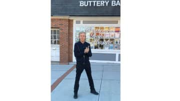The Beatles front man spent his Sunday hanging out in downtown Metuchen
