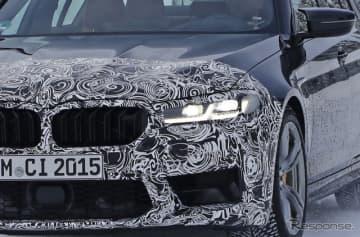 BMW M5 改良新型プロトタイプ スクープ写真