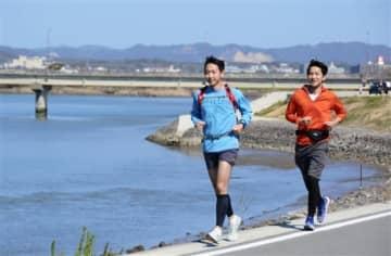 いだてんマラソン、中止でも走る 玉名市でランナー、自主的に