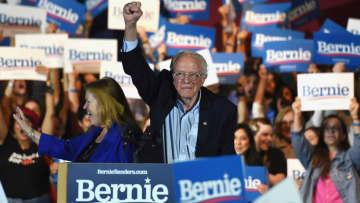 【米大統領選】 サンダース氏、有力候補の地位固める ネヴァダ州で大勝