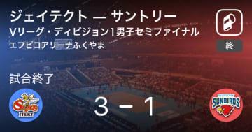 【Vリーグ・ディビジョン1男子セミファイナル】ジェイテクトがサントリーを破る