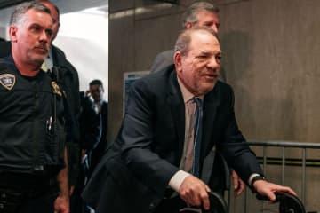 Harvey Weinstein in court on Monday in New York. (Scott Heins/)