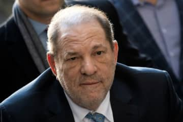Harvey Weinstein arrives at the Manhattan Criminal Court, on February 24, 2020.