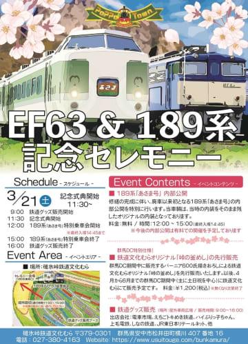 碓氷峠鉄道文化むらでEF63&189系記念セレモニー 189系「あさま号」廃車以来初の車内公開も