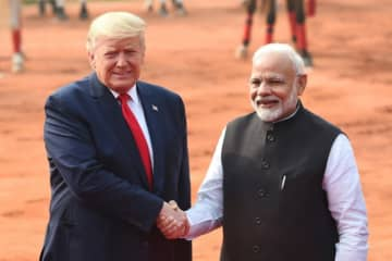 US President Donald Trump is expected to raise concerns about religious freedom during his lightning visit to India.
