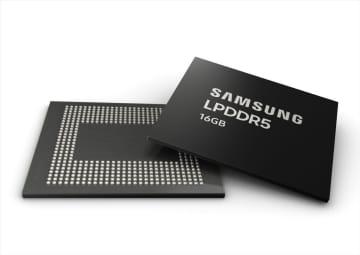 サムスン、スマホ向けLPDDR5 16GB RAMの生産を開始
