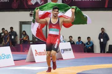 イランの強さが目立った男子グレコローマン(写真は72kg級優勝のアミン・ヤバール・カビヤニネヤド)