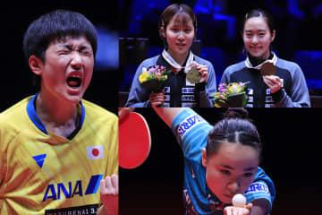 張本智和、平野美宇・石川佳純、伊藤美誠 PHOTO:@ITTFWorld
