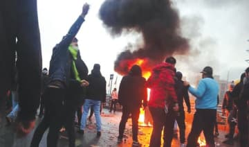 Demonstrations and protest rallies across Iran started in November after a hike in gas prices but grew to challenge an oppressive regime.