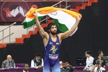 地元のアジア選手権で優勝した世界3位のラビ・クマール(インド)