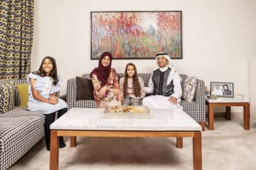 Noor Balfaqeeh and her family. (AN photo by Ziyad Alarfaj)