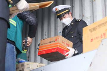 上海税関、韓国発郵便物受け入れで緊急ルート 陸海一貫輸送活用