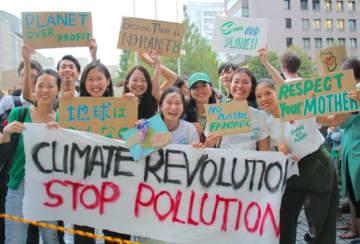 Sumireko Tomita/ BuzzFeed 2019年9月に東京で開催された「気候マーチ」参加者