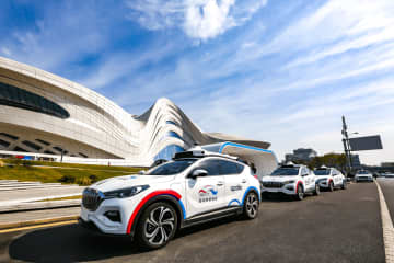 Baidu began piloting robotaxi services with a fleet of 45 autonomous cars in the central Chinese city of Changsha on Sept. 26, 2019. (Image credit: Baidu)