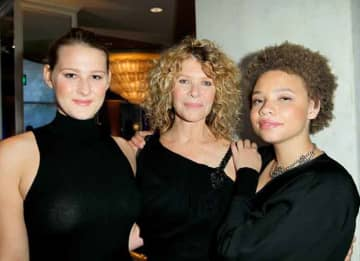 "BEVERLY HILLS, CA - MAY 02: Actress Kate Capshaw (C), and daughters Mikaela George Spielberg (R) and Destry Allyn Spielberg (L) attend EIF Women's Cancer Research Fund's 16th Annual ""An Unforgettable Evening"" presented by Saks Fifth Avenue at..."
