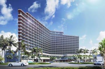 プリンスホテルが2022年春に沖縄県宜野湾市で開業するリゾートホテルのイメージ