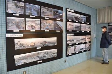 津波被害の惨状を伝える写真展