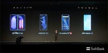 ソフトバンクの5G対応端末は4機種