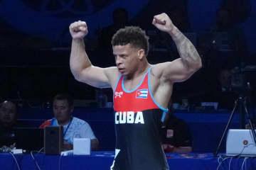 オリンピック2階級制覇を目指すイスマエル・ボレロ・モリーナ(キューバ)