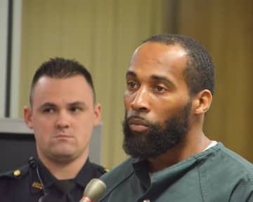 Golden Williamson appears in court in Jersey City on Nov. 17, 2016, on the charge of attempting to murder a man by shooting at him in Jersey City on Nov. 4, 2015. (Michaelangelo Conte | The Jersey Journal) (Journal file /)