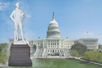Richard Stockton's statue is one of two statutes representing New Jersey housed in the U.S. Capitol Building in Washington, D.C. (illustration/)
