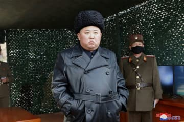 """North Korea's official media released images of leader Kim Jong Un overseeing a Korean People's Army """"long-range artillery"""" drill at an undisclosed location last week."""