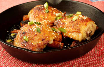 One-Skillet Roasted Sesame Chicken Thighs. - Hillary Levin/St. Louis Post-Dispatch/TNS