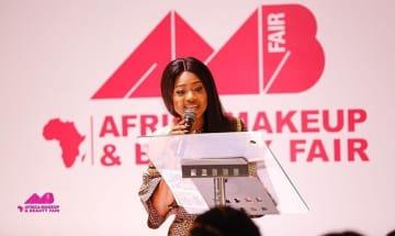 Rebecca Donkor speakingat the ceremony