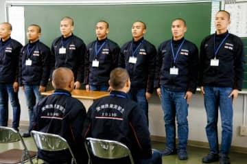 3年間の船上実習へ向け決意を語るインドネシア人技能実習生