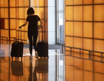 A traveller in the Hong Kong International Airport. File photo: GovHK.