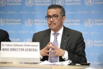 World Health Organization (WHO) Director-General Tedros Adhanom Ghebreyesus speaks at a daily briefing in Geneva, Switzerland, on March 9, 2020. [Photo/Xinhua]