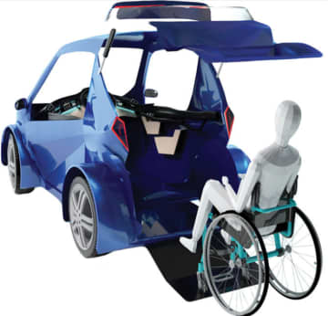 Khadija Jallouli's HawKar is more secure than an electric scooter. (Supplied)