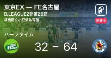 【速報中】東京EXvsFE名古屋は、FE名古屋が32点リードで前半を折り返す