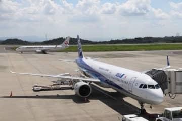 国内線にも感染拡大の影響が及んでいる岡山桃太郎空港