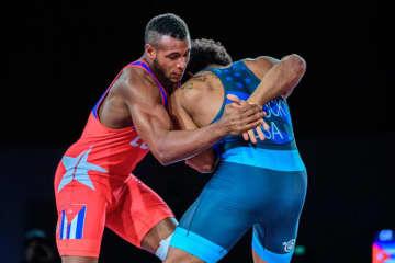 97kg級で東京オリンピック出場を決めた昨年の世界ジュニア王者ガブリエル・アレハンドロ・ロシーヨ(キューバ)=提供・UWW