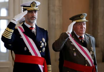 Juan Carlos handed over power to his son, Felipe in 2014.