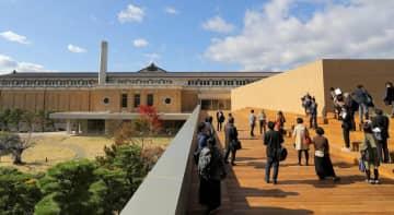 京都市京セラ美術館に新設されたテラス(京都市左京区、2019年11月15日撮影)