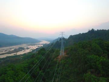 中国企業、ラオス北部電力網の主要幹線建設完了