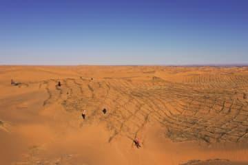 クブチ砂漠で砂防工事が再開 内モンゴル自治区