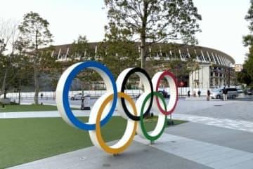 東京五輪の舞台となる予定の新国立競技場(2020年3月6日、弁護士ドットコムニュース撮影