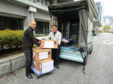 中国・復星集団からの医療支援物資第2陣、神戸市に到着
