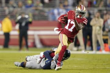 サンフランシスコ・49ersのエマニュエル・サンダース【AP Photo/Tony Avelar】
