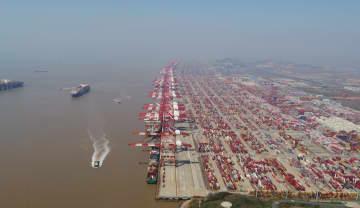 洋山港の業務再開加速、船舶の入出港数が通常並みに回復
