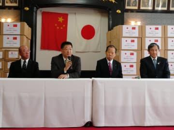 中国大使館と大連市政府、和歌山県に感染防止物資を寄付